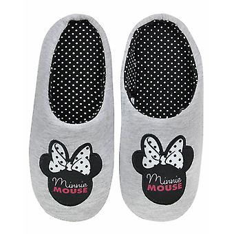 Disney Minnie Mouse Donne's House Slip-on Slippers in Grigio
