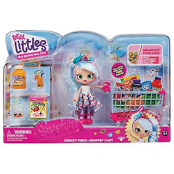Shopkins Real Littles Mini Packs Trolley & Shoppie Playset