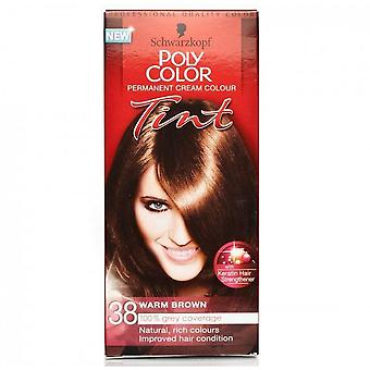 Schwarzkopf 3 X Poli Hair Color Tint - Medium Warm Brown 38