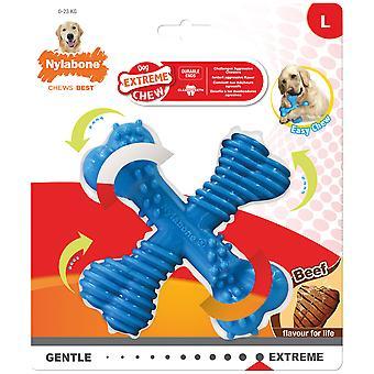 Nylabone Dura Chew X Bone para Perros (Cães , Brinquedos e desporto , Mordedores)