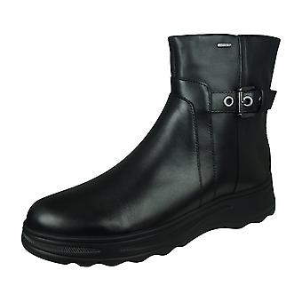 Geox Hosmos B ABX A Womens Leather Waterproof Boots - Preto