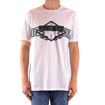 Versace Ezbc070023 Men's White Cotton T-shirt
