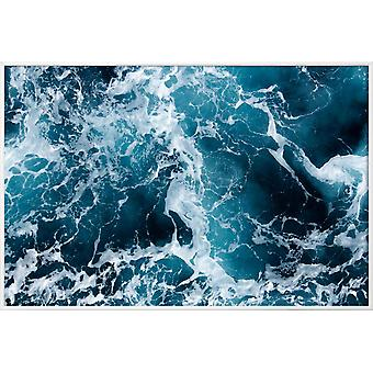 JUNIQE Print - The Sea by @Michaela_LRA - Oceans, Seas & Lakes Juliste Paikassa Blue & Black