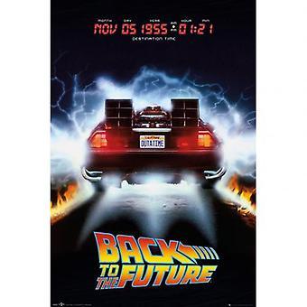 Back To The Future Poster Delorean 234