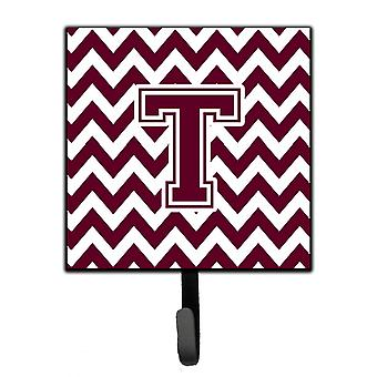 Carolines Treasures  CJ1051-SH4-Parent Letter Chevron Maroon and White  Leash or