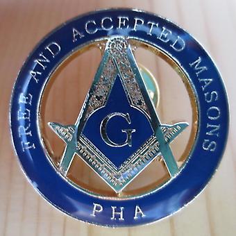 Free and accepted masons pha masonic lapel pin