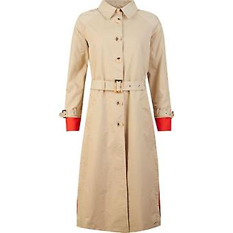 Rino & Pelle Belted Contrast Cuff Trench Coat