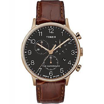 Timex TW2R71600 Waterbury Classic chronograaf polshorloge bruin