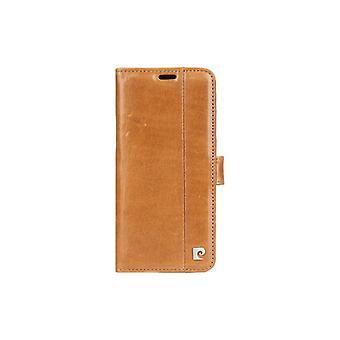 Pierre Cardin Leder Bücherregal Fall Samsung Galaxy S8 Plus - braun
