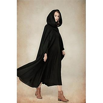 Open Front  Cape Cloak Poncho Hooded