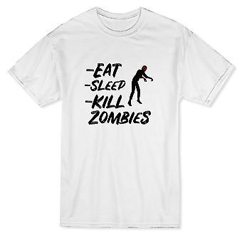 Eat Sleep Kill Zombies Graphic List Men's T-shirt