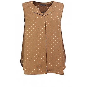 b.young Almond Spot Print Top
