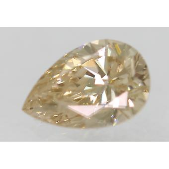 Cert 0,41 Karat gelb braun VS2 Birne Enhanced Natural Diamond 6.09x4.13mm