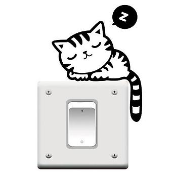 GNG Cat Nap Pet Light Switch Funny Wall decal stickers Vinyl Sticker