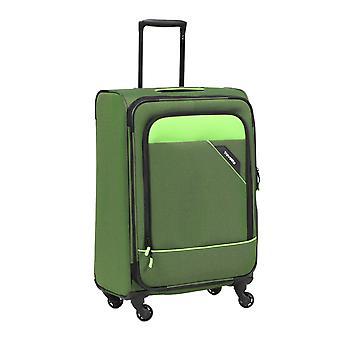Travelite Derby Trolley L, 4 rouleaux, 77 cm, 105 L, vert