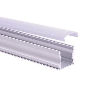 Jandei Aluminiumprofil LED-yta 16x14 med genomskinligt lock