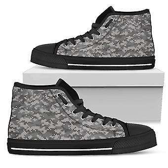 High Top Shoes | Grey Camouflage