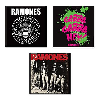 Ramones 3 x Fridge Magnet band logo new official Gift set