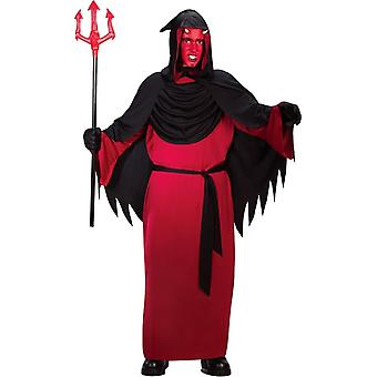 Horned Red Man Child Costume