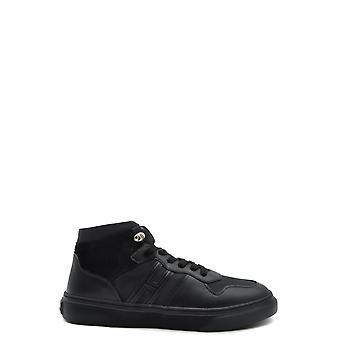 Hogan Ezbc030192 Mænd's Sort Læder Hi Top Sneakers