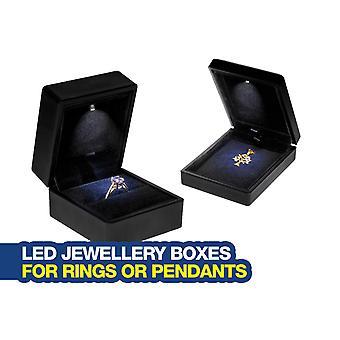 Tänd LED-smyckeskrin