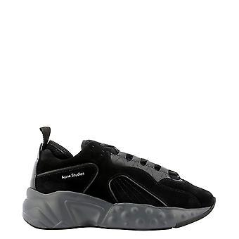 Acne Studios Bd0136black Men's Black Leather Sneakers
