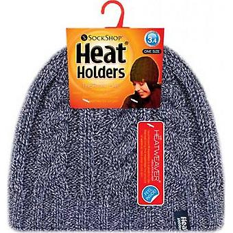 Heat Holders Women's Chunky Rib 3.4 Tog Hat Navy