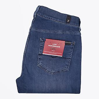 7 For All Mankind - Slimmy Taps toelopende Luxe Jeans - Mid Blue