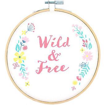 Something Different Wild & Free Decorative Hoop