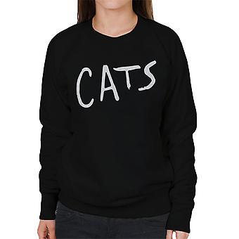 Cats Text Logo Women's Sweatshirt