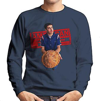 American Pie Jim Holding Pie Men's Sweatshirt