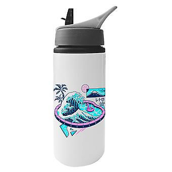 Vaper Wave Pool Aluminium Water Bottle With Straw