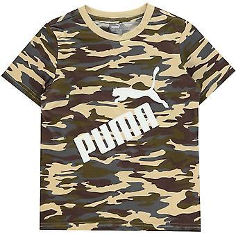 פומה הסוואה הלוגו של חולצת QT בנים צעירים