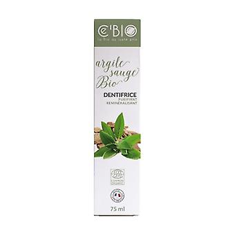 Organic Sage Clay Toothpaste 75 ml