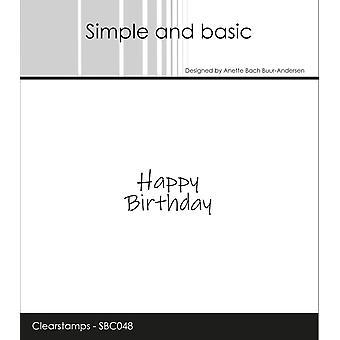 Enkel och grundläggande Clearstamp Happy Birthday
