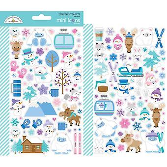 Doodlebug Design Inverno Paese delle Meraviglie Mini Icone Adesivo