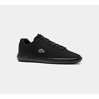 لاكوست أفانس الاصطناعية المدربين أحذية الرجال الأسود الأحذية