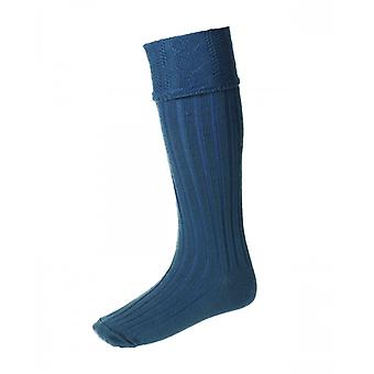 House of Cheviot Highland Hose Glenmore ~ Ancient Blue