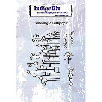 IndigoBlu Fandangle Lollipops A6 Rubber Stamp