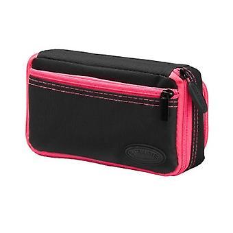 36-0701-12, Casemaster Plazma Plus Nero con custodia dardo rifinitura rosa e tasca del telefono