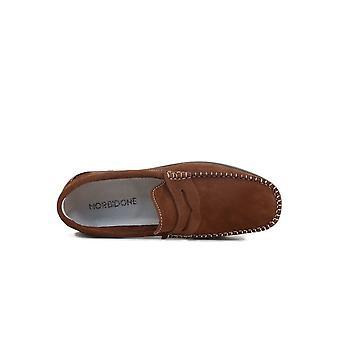 Morbidone - Shoes - Moccasins - 5667_NABUK_MARRONE - Men - saddlebrown - EU 41