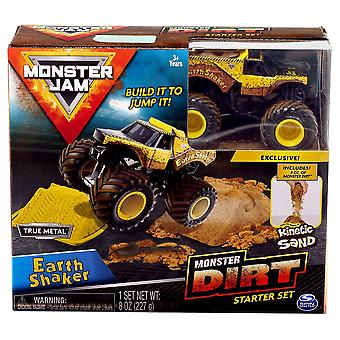 Monster Jam Kinetic Dirt Starter Set Earth Shaker