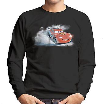Disney Christmas Cars Lightning Mcqueen Snowy Skid Men's Sweatshirt