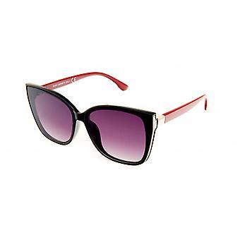 Sunglasses Women's panto black/red/violet (20-034)