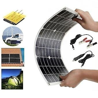 Waterproof and Snowproof Polysilicon 2000W 5V/12V Dual Output USB Solar Panel Kit