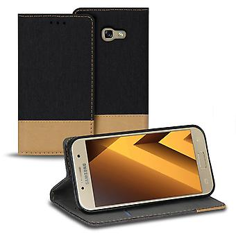 Mobile Case with Card Pocket for Samsung Galaxy A3 (2017) Card Holder TPU Protection Black