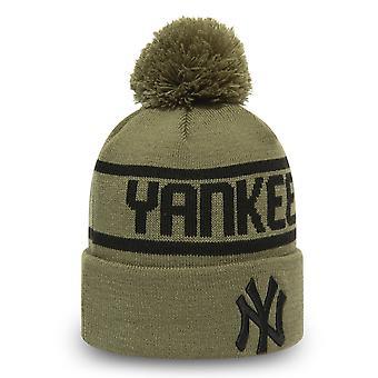 New Era Bommel Wintermütze Beanie - New York Yankees oliv