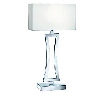 1 lichte tafellamp chrome met schaduw, E27