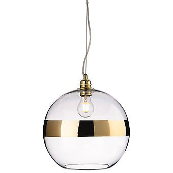 1 Light Globe Ceiling Pendentif Or, Verre clair, E27