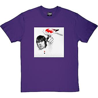 Ian Brown Red, White and Black Dove Purple Men's T-Shirt
